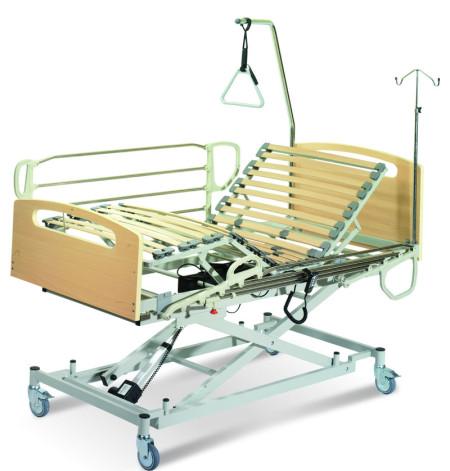 cama geriátrica con carro de elevación